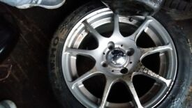 195/45/16 4 stud ford fitment alloy with really good 195/45/16