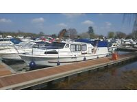 BROOM 37 BROADS WIDE BEAM CRUISER BOAT +WITH MOORING, IDEAL PIED-A-TERRE OR FANTASTIC LIVEABOARD
