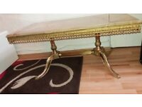 Two Stunning Vintage Marble French Style Coffee tables