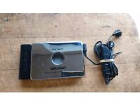 VINTAGE LIMITED EDITION CHROME BODY SONY WALKMAN WM-EX808HG STEREO CASSETTE PLAYER GOOD WORKING CNTD