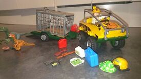 Playmobil Dino Cage and Jeep