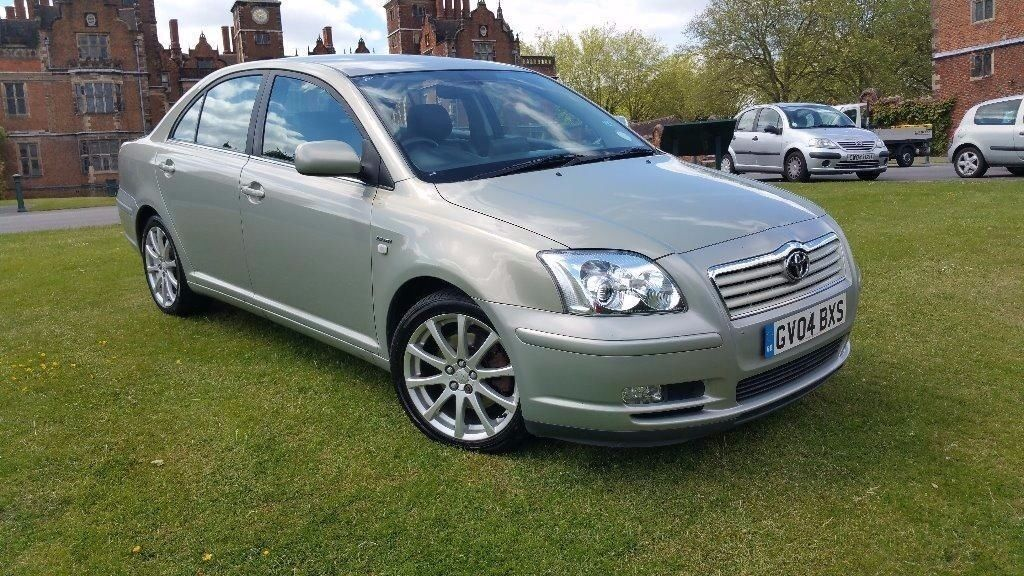 toyota avensis 2 0 vvt i spirit 4dr 2004 black leather interior in handsworth west. Black Bedroom Furniture Sets. Home Design Ideas