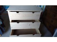 Ikea Wooden Chest of drawers 89cm wide x 51cm deep x 86cm high