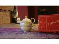 Single Serving tea pot and cup form Arthur Wood