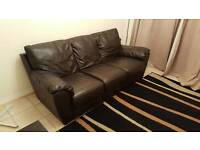 3 Seater Harvey's Leather Sofa Excellent Condition