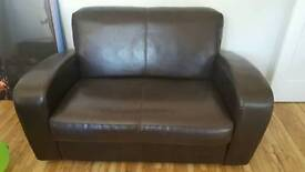 Chocolate Brown 2 Seater Sofa