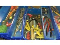 Tool box full of tools mm, a/f spanners allen pliers drivers torx riveter circlip chest on snap mac