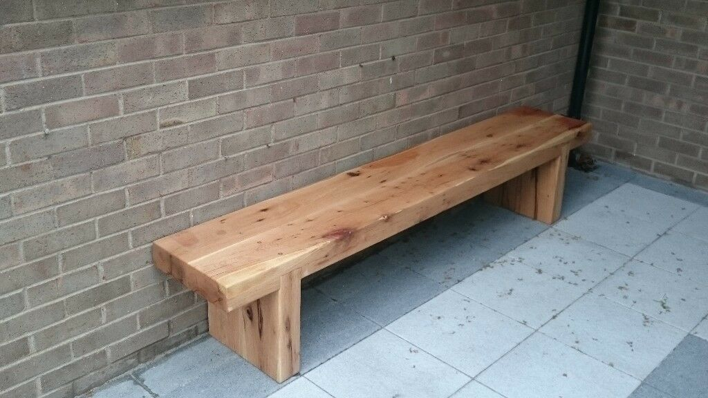 Double Oak Railway Sleeper Bench Garden Furniture Set Summer Sets Loughviewjoinery