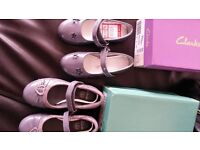 Clarks girls 9f brand new shoes