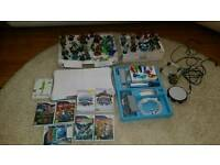 Wii white console and games