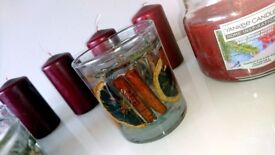 Candles Yankee Tea Lights and Candle Holder for sale