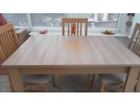 Dining table, natural oak effect