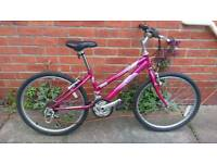Girls Raleigh Kobo bike for ages 8 to 11 approx good working condition and ready to ride