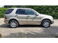 MERCEDES BENZ ML 270 CDI AUTO 2002/52 115K MILES 3 OWNERS IN BEIGE WITH TAN LEATHER