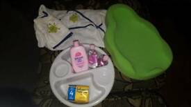 Baby bath stuff