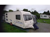 Bailey Ranger GT60 540/6. 2010. Triple fixed bunks. Plus 2 awnings and accessories.
