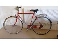 Vintage Elswick Goodwood Red 6-Speed with Lever Gears