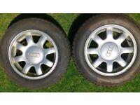 4 x Genuine Audi Speedline Alloys in great condition incl. 2 x Michelin Pilot Alpine Winter tyres