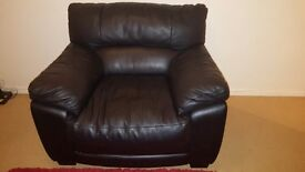 BLACK LEATHER ARMCHAIR - GREAT CONDITION