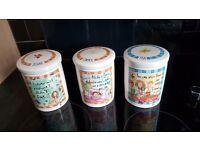 Dunelm mill - Tea coffee sugar canisters