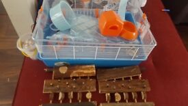 Full Hamster Package - Hamster Cage with Accessories, bottle, hamster ball & treats - good condition