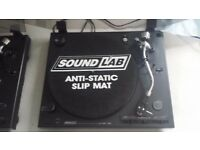 Pair Of Soundlab DLP 1600 Turntables/decks