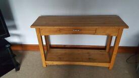Oak console table for sale