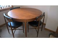 G Plan wooden dining table + 4 chairs - Vintage