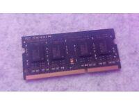 Elpida 4GB 1Rx8 DDR3 PC3-12800, 1600MHz, 204 PIN SODIMM for iMac / Macbook