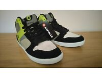 Airwalk Mid-top trainers. New. Never worn. Grey/Lime/Black. UK size 7.