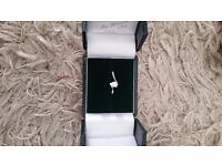 Pear shaped platinum diamond engagement ring for sale
