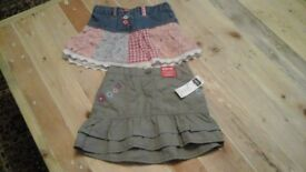 lovely set of 2 skirts age 2/3 years never been worn