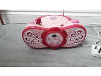 BARBIE PORTABLE CD PLAYER & RADIO