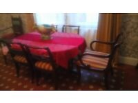 5 chairs and table in good vintage condition (6th chair needs se