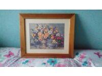 Floral framed picture