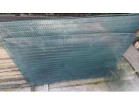 8 heavy gauge pvc coated wire mesh panels, ideal for chicken pen or dog run or security grilles etc