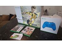 SEALED XBOX ONE S + 2 CONTROLLERS + 3 GAMES + EXTRAS