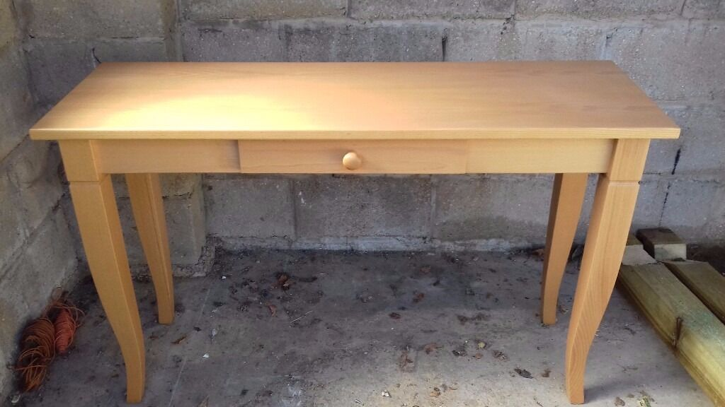 Quality Solid Beech Finish Console Table Also Matching