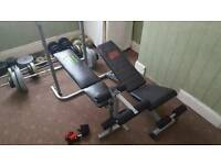 Weights Set, Bench, Barbells, Dumbells, 200kgs