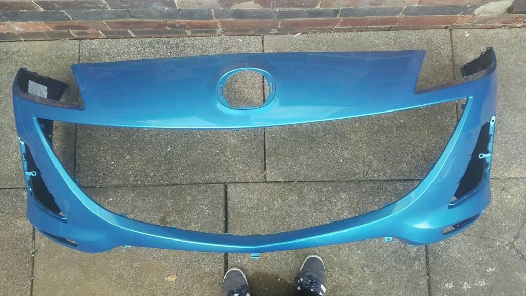 MAZDA 3 FRONT BUMPER * CELESTIAL BLUE * 2010-2013 * MK 4 * AS NEW