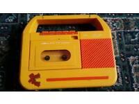 Vintage child cassette radio WORKING