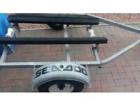 jetski rib boat trailer with new hubs and bearings jockey wheel