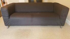 Two IKEA sofas