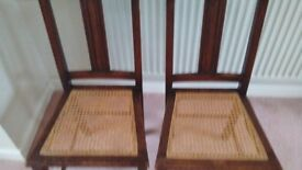 2 cane/wicker chairs
