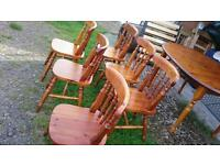 Solid pine,table and chairs,