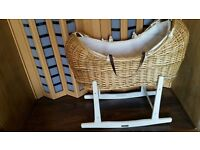 High Quality Wicker Moses Basket Claire De Lune Available for Sale