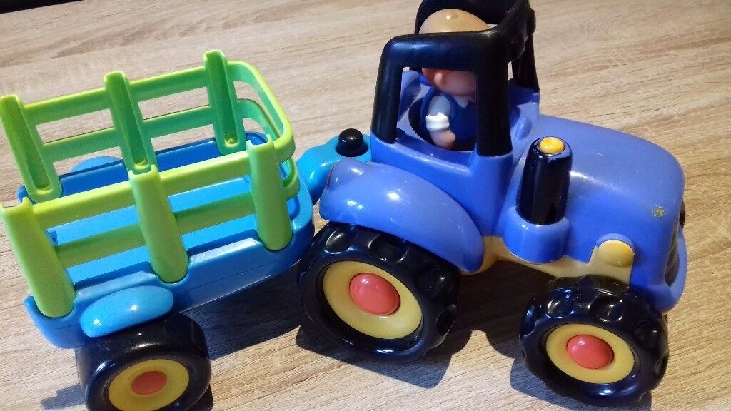 ELC tractor and trailer toy