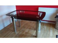 Harvey's Black Glass Dining Table