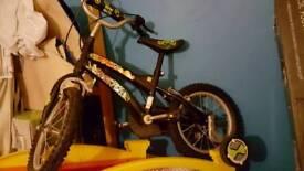 Ben 10 bike and helmet