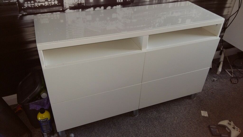 Ikea Besta Tv Entertainment Unit Chest Of Drawers In